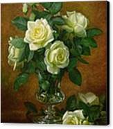 Yellow Roses Canvas Print by Albert Williams