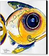 Yellow Study Fish Canvas Print by J Vincent Scarpace