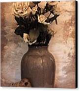 Yellow Tinted Roses Canvas Print