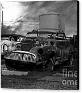 Yesterday Came Early . Tomorrow Is Almost Over 2 . Black And White Canvas Print by Wingsdomain Art and Photography