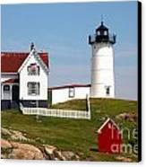 York Harbor  Nubble Lighthouse Canvas Print