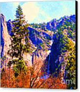 Yosemite In The Fall . 7d6287 Canvas Print by Wingsdomain Art and Photography