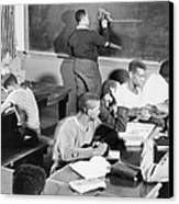 Young African American Men Receiving Canvas Print by Everett