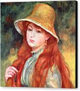 Young Girl With Long Hair Canvas Print