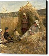 Young Harvesters Canvas Print by Lionel Percy Smythe