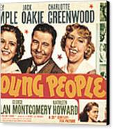 Young People, Shirley Temple, Jack Canvas Print