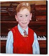 Young Piano Student Canvas Print