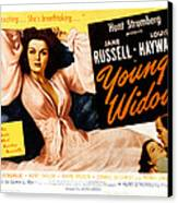 Young Widow, Jane Russell, 1946 Canvas Print by Everett