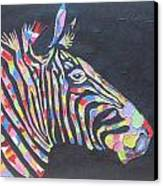 Zebra Canvas Print by Rejeena Niaz