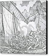 Zheng Yis Pirates Capture John Turner Canvas Print by Photo Researchers