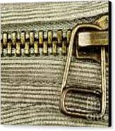 Zipper Detail Close Up Canvas Print by Blink Images