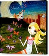 Zodiac Virgo Canvas Print by Laura Bell