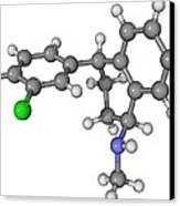 Zoloft Antidepressant Drug Molecule Canvas Print by Laguna Design