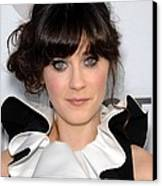 Zooey Deschanel At Arrivals For Our Canvas Print