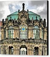 Zwinger Dresden - Carillon Pavilion - Caution Fragile Canvas Print by Christine Till