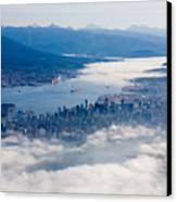 An Aerial View Of Vancouver Canvas Print by Taylor S. Kennedy