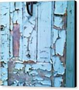 Blue Door In The Old South Canvas Print by Shawn Hughes