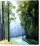 Country Road Canvas Print by Carola Ann-Margret Forsberg