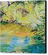 Creekside Canvas Print by Lucinda  Hansen