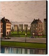 French City Landscrape Canvas Print