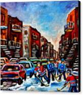 Late Afternoon Street Hockey Canvas Print