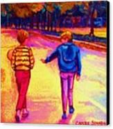 Lets Play Ball At Beaverlake Park Canvas Print