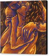 Los Amantes The Lovers Canvas Print