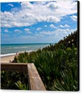 Melbourne Beach On The East Coast Of Florida Canvas Print
