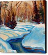 Peaceful Winding Stream Canvas Print