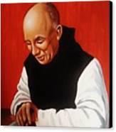 Portrait Of Thomas Merton Canvas Print by Joseph Malham