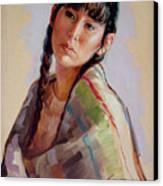 Sacajawea   Study Canvas Print by Jerrold Carton