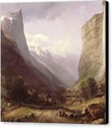 Swiss Scene Canvas Print by Samuel Jackson
