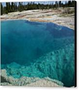 Turquoise Hot Springs Yellowstone Canvas Print by Garry Gay