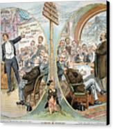 Business Cartoon, 1904 Canvas Print by Granger