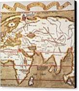 Waldseemuller: World Map Canvas Print by Granger
