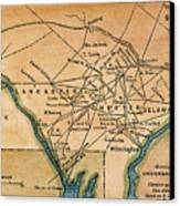 Underground Railroad Map Canvas Print by Granger