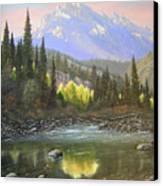 060409-2430  Long Scraggy Mountain - Reflections   Canvas Print