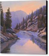 071123-1612  Remnants Of The Day In The Canyon Canvas Print