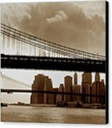 A Tale Of Two Bridges Canvas Print by Joann Vitali