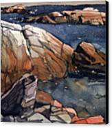 Acadia Rocks Canvas Print by Donald Maier