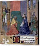 Adoration Of Magi Canvas Print by Granger
