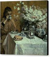 Afternoon Tea Canvas Print by Isidor Verheyden