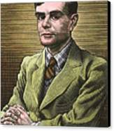 Alan Turing, British Mathematician Canvas Print by Bill Sanderson