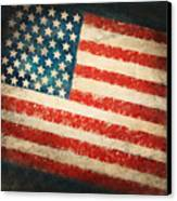America Flag Canvas Print