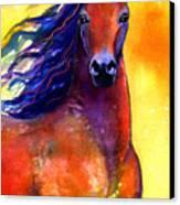 Arabian Horse 1 Painting Canvas Print by Svetlana Novikova