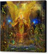 Archangel Michael-angel Tarot Card Canvas Print by Steve Roberts