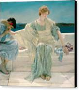 Ask Me No More Canvas Print by Sir Lawrence Alma-Tadema