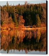 Autumn Lake Canvas Print by Kate  Leikin