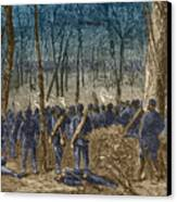 Battle Of The Wilderness, 1864 Canvas Print by Photo Researchers