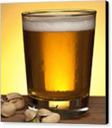 Beer In Glass Canvas Print by Blink Images